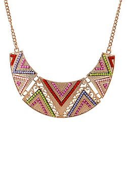 Jewel triangle necklace