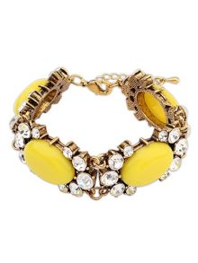 Ruby Rocks Cut yellow gem bracelet