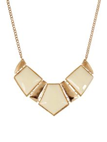 Ruby Rocks Gold & cream gem necklace