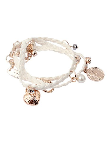 Ruby Rocks Cream multi wrap bracelet