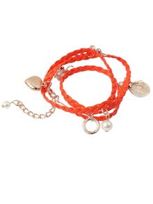 Ruby Rocks Orange multi wrap bracelet