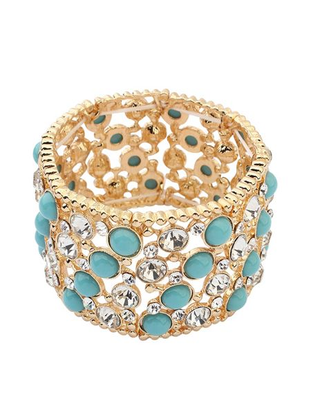 Ruby Rocks Vintage turquoise cuff