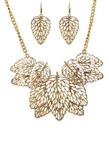 Ruby Rocks Gold leaf bone necklace