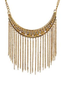 Ruby Rocks Delicate aztec drop necklace