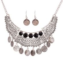 Ruby Rocks Silver gem drop necklace