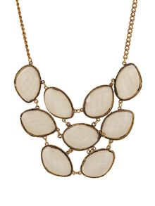 Ruby Rocks Cream stone multi stone necklace