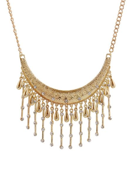 Ruby Rocks Gold delicate drop necklace