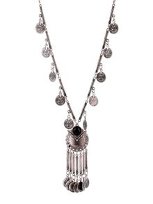 Ruby Rocks Silver coin drop necklace