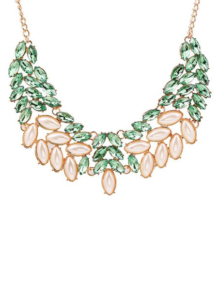 Ruby Rocks Sea green gem necklace