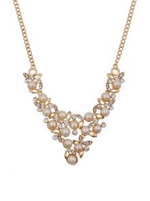 Ruby Rocks Pearl & crystal necklace