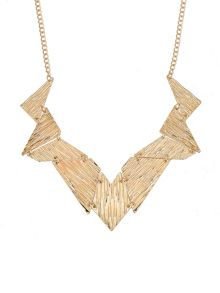 Ruby Rocks Golden geo necklace
