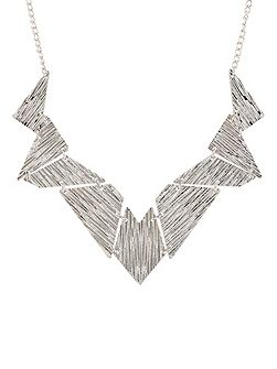 Silver geo necklace