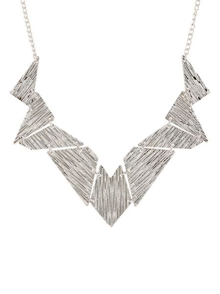 Ruby Rocks Silver geo necklace