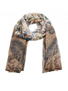 Ruby Rocks Abstract floral print scarf