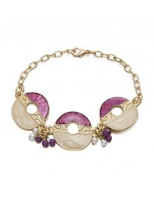 Ruby Rocks Purple enamel bracelet