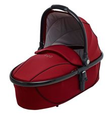 Egg Carrycot berry red and gunmetal frame