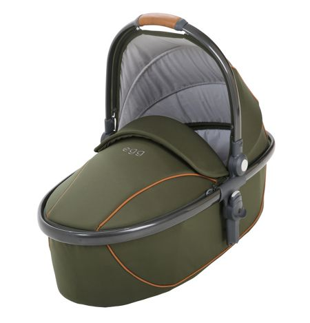 Egg Carrycot forest green and gunmetal frame