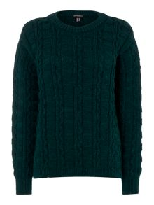 Gloverall Cable Crew Neck Jumper