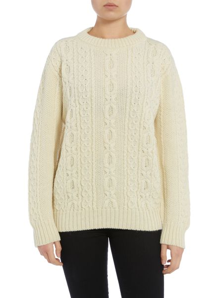 Gloverall Aran Crew Neck Jumper