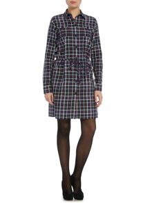 Gloverall Racing Check Dress
