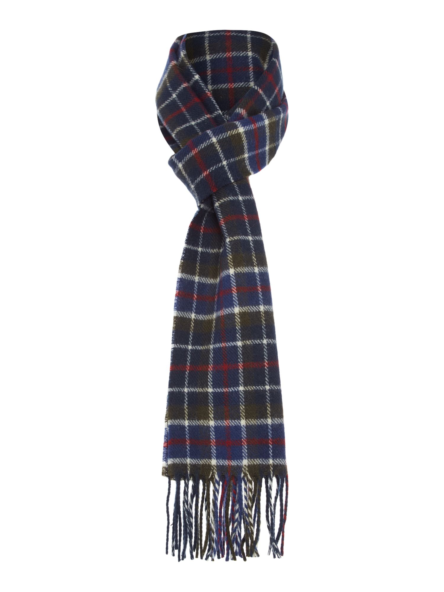 Gloverall Gloverall Racing Check Scarf, Multi-Coloured