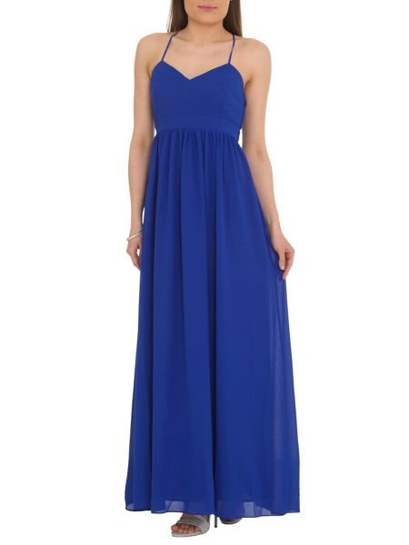 Badgley Mischka Chiffon Maxi Dress