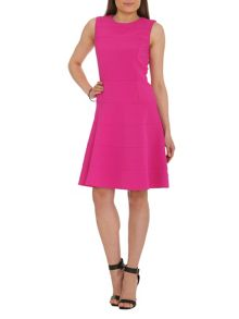 Stretch Twill Fit and Flare Dress