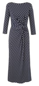 Plus Size polka maxi dress