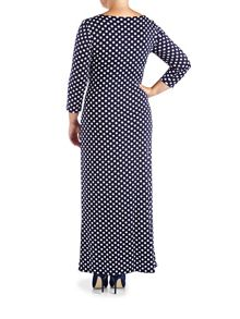 Grace Plus Size polka maxi dress