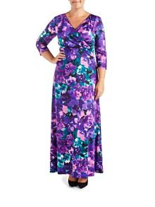 Grace Plus Size floral maxi dress