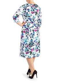 Grace Plus Size floral midi dress