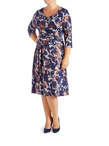 Grace Plus Size Made in Britain midi dress
