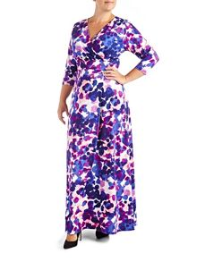 Grace Patterned Maxi Dress
