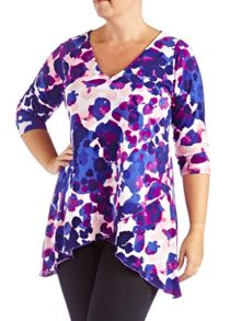 Grace Plus Size mock wrap tunic