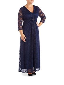 Grace Plus size Lace Maxi