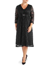 Grace Plus size Lace Midi