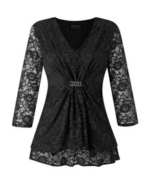 Grace Plus size Lace Tunic