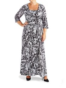 Grace Plus size Print Maxi