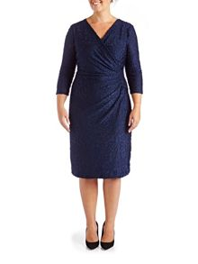 Grace Plus Size Made In Britain Burnout Midi
