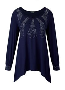 Plus Size Made In Britain Studded Tunic