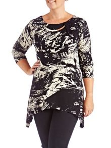 Plus Size Made In Britain Print Tunic