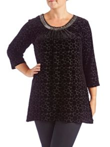 Grace Plus Size Made In Britain Trim Tunic