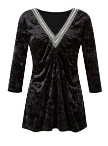 Plus Size Made In Britain Velour Tunic
