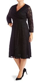 Grace Plus Size Made In Britain Lace Dress