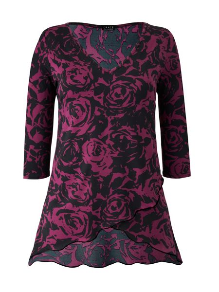 Grace Made In Britain Floral Tunic Top
