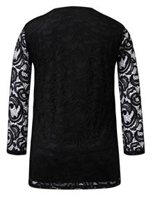 Grace Plus size Made in Britain lace top