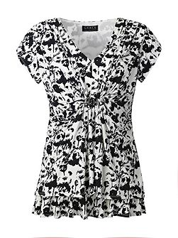 Made In Britain Print Tunic Top