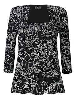 Made In Britain Floral Print Top