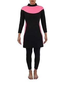 Two piece modest swimsuit burkini