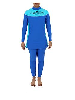 Three piece modest swimsuit burkini